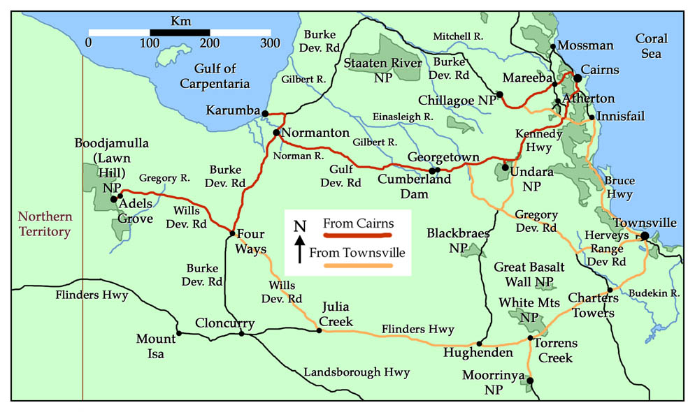 Map of Northern Queensland further_afield
